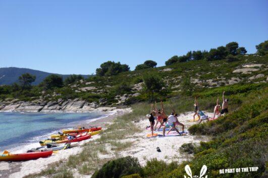 Sea Kayak Halkidiki yoga kayak tours