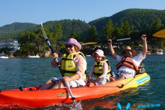 Best way of families to go out in the water