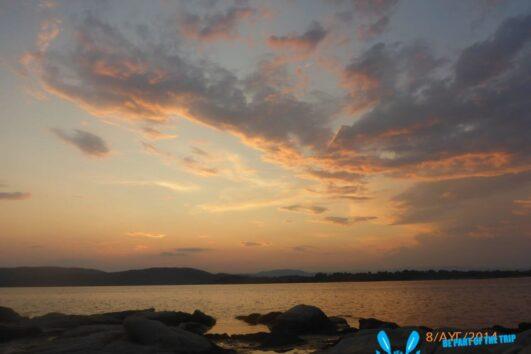 Amazing sunset view of Vourvourou bay