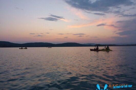 Sunset Paddling in Vourvourou bay